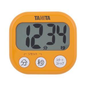 【ゆうパケット配送対象】[タニタ]デジタルタイマー でか見えタイマー TD-384 アプリコットオレンジ(ポスト投函 追跡ありメール便) kenko-ex