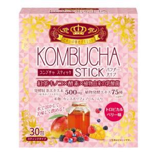 ●ユーワ KOMBUCHA STICK 30包 トロピカルベリー味 パウダータイプの商品詳細 ●きれ...