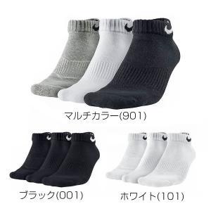 NIKE ナイキ 3P コットン クッション ローカット ソックス +モイスチャー マネジメント SX4701(3足組/靴下/メ