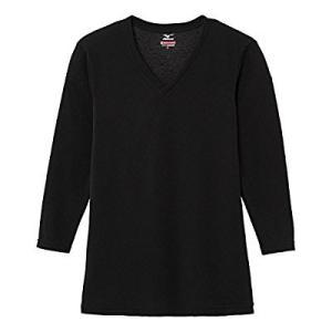 Mizuno ミズノ ブレスサーモエブリプラス Vネック長袖シャツ(ブラック) 中厚タイプ メンズ[C2JA664109]|kenko-ex