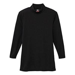 【ゆうパケット配送対象】Mizuno ミズノ ブレスサーモエブリプラス ハイネック長袖シャツ(ブラック) 中厚タイプ メンズ[C2JA664209](メール便)|kenko-ex