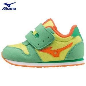 Mizuno ミズノ タイニーランナー4(子供靴 キッズシューズ 幼児用シューズ)カラー35:メロンいろ [K1GD1632]|kenko-ex