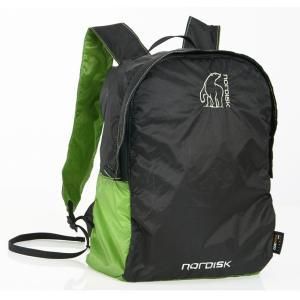 【在庫限り!大特価】[国内正規品]NORDISK ポケッタブルバッグ Nibe 12L(ニベ)Green/Black[133019]ノルディスク バックパック リュック|kenko-ex