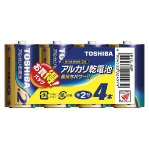 【ゆうパケット配送対象】[東芝ライテック] アルカリ乾電池 単2 4本パック LR14L4MP(ポスト投函 追跡ありメール便) kenko-ex