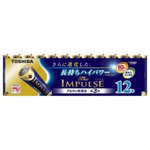 【ゆうメール便!送料80円】[東芝ライテック] アルカリ乾電池 ザ・インパルス 単3 12本パック LR6HS 12MP|kenko-ex