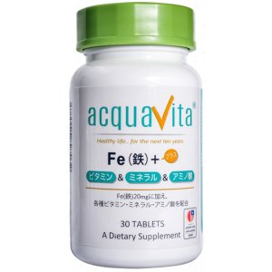 Fe(鉄)+ビタミン・ミネラル・アミノ酸 30粒...