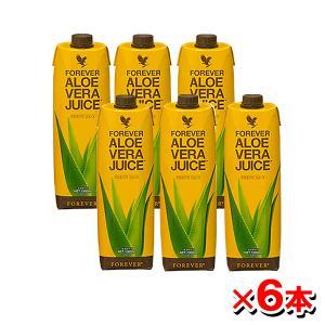 (6本セット) FLPアロエベラジュース 1L 1000mL×6本 保存料・化学合成物質未使用 Forever Living Products フォーエバー aloe vera