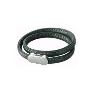 エルグ ブレスレット ダブルレザー(本革製) 【ダークグレー】erg bracelet doubleleather darkgray B10208【Z】