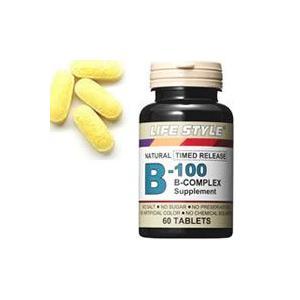 LIFE STYLE(ライフスタイル) ビタミンB-100コンプレックス 60粒入[タブレット][エープライム][サプリメント][B群]|kenko-ex