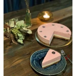 苺とビーツのレアチーズケーキ 18cm6号ホール グルテンフリー・砂糖不使用・低糖質・ロースイーツ|kenko-factory