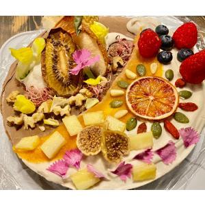 アボカドチョコのアートなケーキ 18cm6号ホール グルテンフリー・砂糖不使用・低糖質・ロースイーツ|kenko-factory