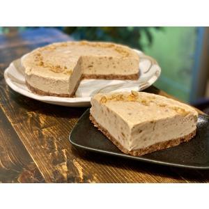 キャラメル風バニラケーキ 18cm6号ホール グルテンフリー・砂糖不使用・低糖質・ロースイーツ|kenko-factory