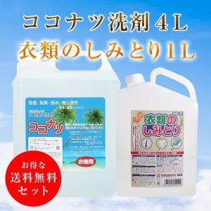 ココナツ洗剤 4L  衣類のしみとり 1L 送料無料 セット kenko-store-tk