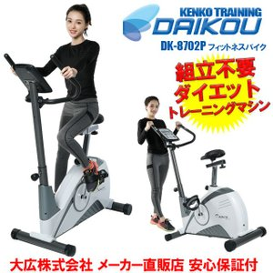 ダイコー 組立不要 エアロ フィットネスバイク DK-8702P 家庭用 静音マグネット式負荷16段階 連続使用60分|kenko-training