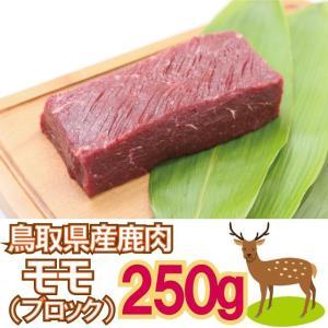 鹿肉 モモブロック 250g ジビエ 鳥取県 智頭 産 高たんぱく 低脂肪
