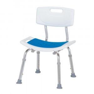 シャワーチェア 背付 1個 送料無料 水をはじくEVA樹脂製のマットを座面に使用 組立要|kenkou-master
