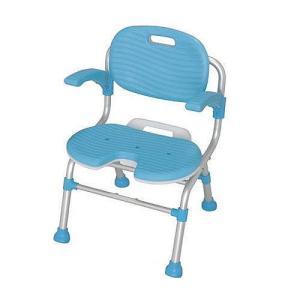 U型シャワーチェア 1個 送料無料 介護保険購入対象品 身体を洗いやすい 背もたれピッタリフィット|kenkou-master