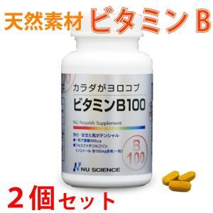ビタミンB 天然素材 サプリメント ビタミンB100 2個セット ニューサイエンス|kenkou-otetsudai