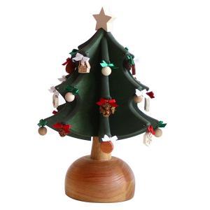 クリスマスツリー オルゴール 木製 オークヴィレッジ オルゴールツリー・プチ グリーン ナチュラル オーナメント24個付 国産 木製 送料無料|kenkou-otetsudai