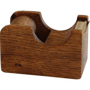 テープカッター 木製 オークヴィレッジ テープカッター 小 国産天然木 無垢材 ブラウン ナチュラル