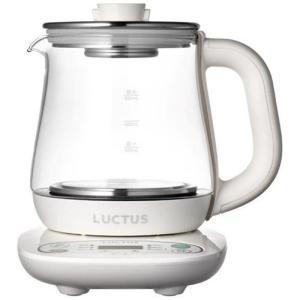 クックケトル ガラス製電気ケトル LUCTUS 茶こしつぼ型容器ポット付き [0.8L][SE6300]|kenkoubijin
