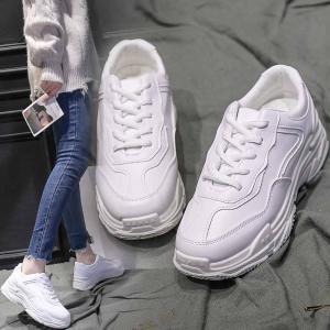 ダッドスニーカー レディース 厚底 ホワイト 白 ランニング カジュアル ストリート 通勤 通学 シンプル かっこいい ダンス 歩きやすい普段履き  韓国 220|kenkoudoudesuka