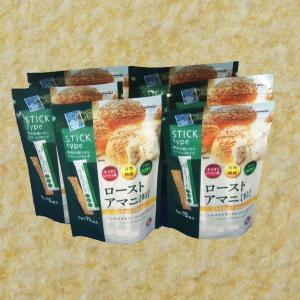 ローストアマニ粒  5g 15本入 6個セット 送料無料 日本製粉 ニップン ローストしたアマニ粒を...