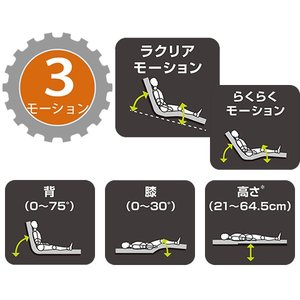 介護ベッド パラマウントベッド 楽匠Z 3モーション 木製ボード(ハイタイプ) スマートハンドル付 介護用ベッド 介護向け KQ-7333S KQ-7323S KQ-7313S KQ-7303S|kenkul|03