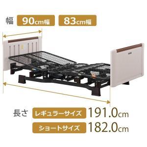 介護ベッド ミオレット2(Miolet2) プラッツ 介護用ベット 2モーター ホワイティBR 介護向け kenkul 02