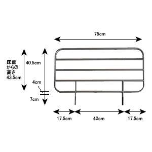 サイドレール・標準タイプ(2本組み)|kenkul