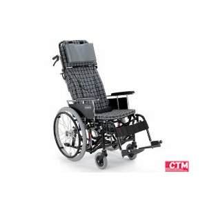 リクライニング式車椅子(車いす)自走式 カワムラサイクル KX22-42N アルミ製車椅子|kenkul