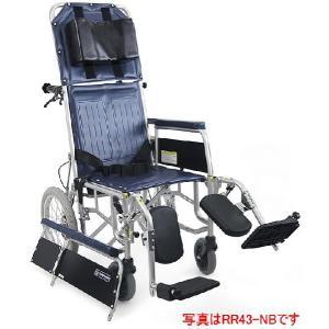 リクライニング式車椅子(車いす)介助式 カワムラサイクル RR43-N(RR41-Nの後継商品です) スチール製車椅子|kenkul