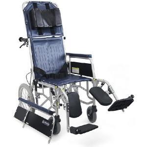 リクライニング式車椅子(車いす)介助式 カワムラサイクル RR43-NB(RR41-NBの後継商品です) スチール製車椅子|kenkul