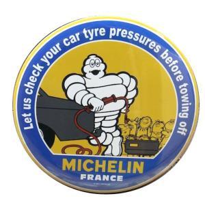 MICHELIN MICH19/ミシュラン・丸形スチール看板B・チェック 寸法/:直径25cmxD1...