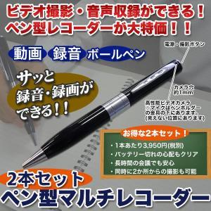 ボールペン 動画 録音 「ペン型マルチレコーダー」2本セット|kensei-online