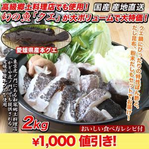 くえ クエ 鍋 「こだわり料理店の国産クエ鍋セット」 2kg|kensei-online
