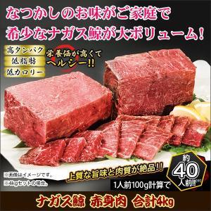 鯨 刺身 赤身 胸肉「ナガス鯨 赤身肉 合計4kg」