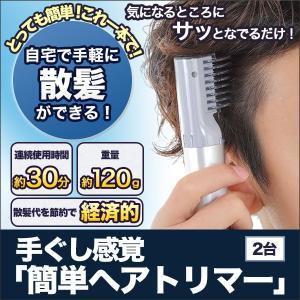 散髪 カット 「手ぐし感覚 簡単ヘアトリマー」2台|kensei-online