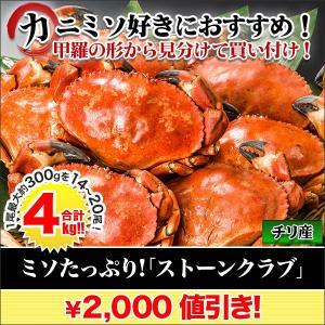 カニ かに 蟹 「ミソたっぷりストーンクラブ」4kg...