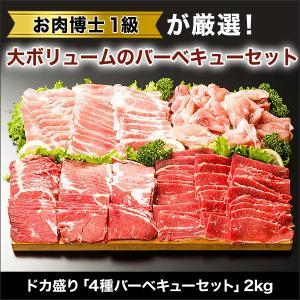 焼肉 BBQ ドカ盛「4種バーベキューセット」2kg