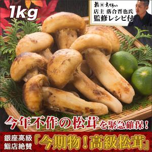 銀座高級鮨店絶賛「今期物!高級松茸」1kgセット