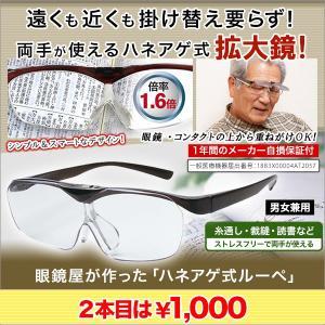 メガネ ルーペ 拡大鏡 眼鏡屋が作った「ハネアゲ式ルーペ」2本セット