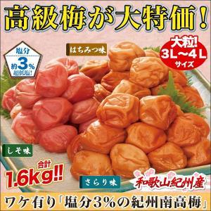 「塩分3%の紀州南高梅」1.6kg