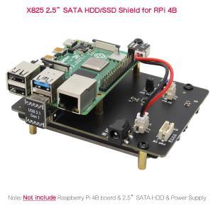 人気商品Geekworm Raspberry Pi4(ラズベリーパイ4) 2.5 inch SATA HDD/SSD X825 V1.5 USB3.1 ストレージ拡張ボード、ラズベリーパイ4モデルBに適用|kenseido