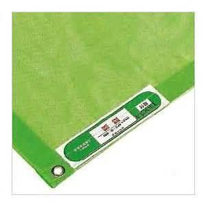 防炎メッシュシート(グリーン)1.8×3.6(10枚入り) 日本防炎協会認定品|kensetusizai-a1pha