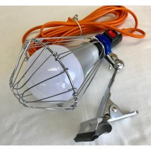 ウイングエース LA-2205LED LED電球付 クリップランプ ニュールミネ LED22W LED 作業灯 kensetusizai-a1pha