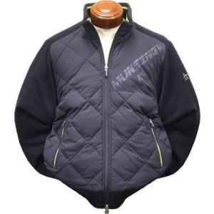 マンシングウェア セーター メンズ MGMOJL12 前身頃にダウン使用 カーディガン 2019年秋冬新作 M.L.LL.3L|kenshima