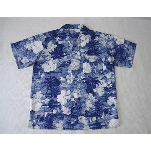 アロハシャツ (紺)