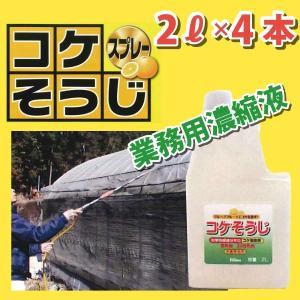 しつこいコケに!【コケそうじ業務用濃縮液】2L≪4本セット≫・しつこいコケに環境に優しく安心|kenzai-wanipark