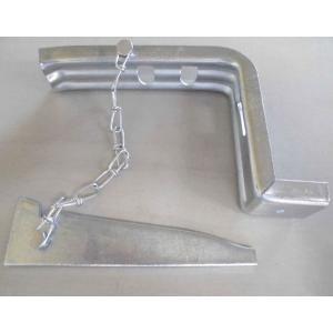 兼用座金60角(角パイプのクサビ式・シングル・ダブルで使用)・50個入|kenzai-wanipark